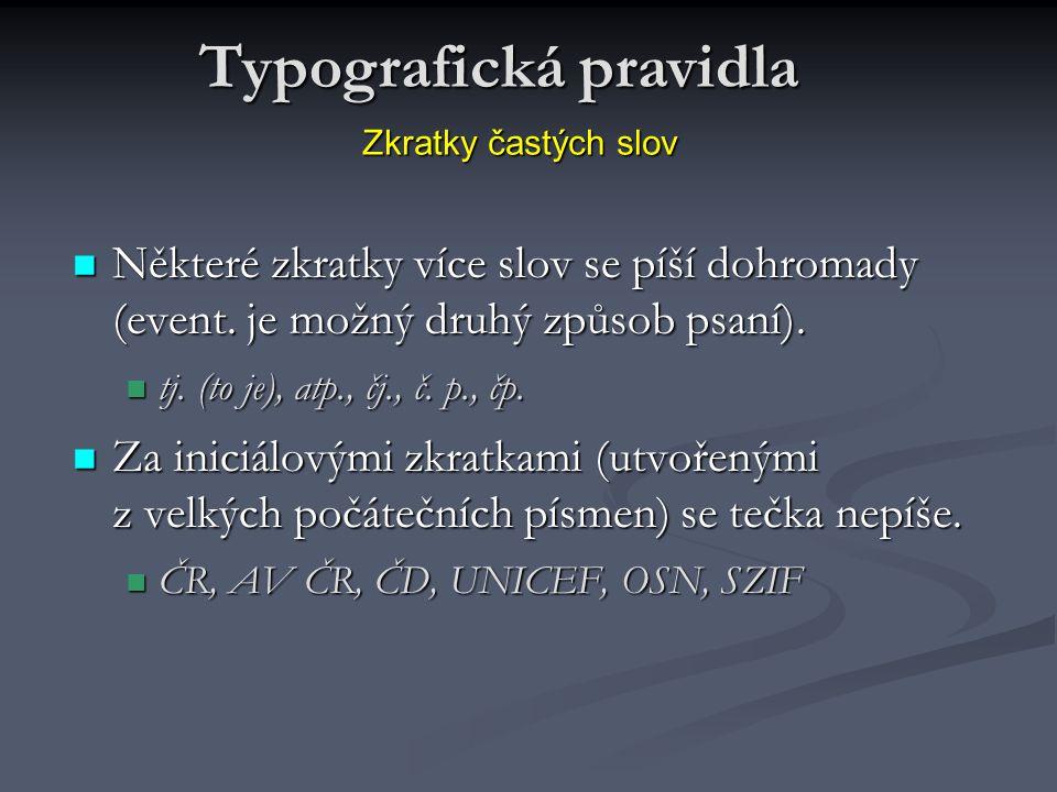 Typografická pravidla