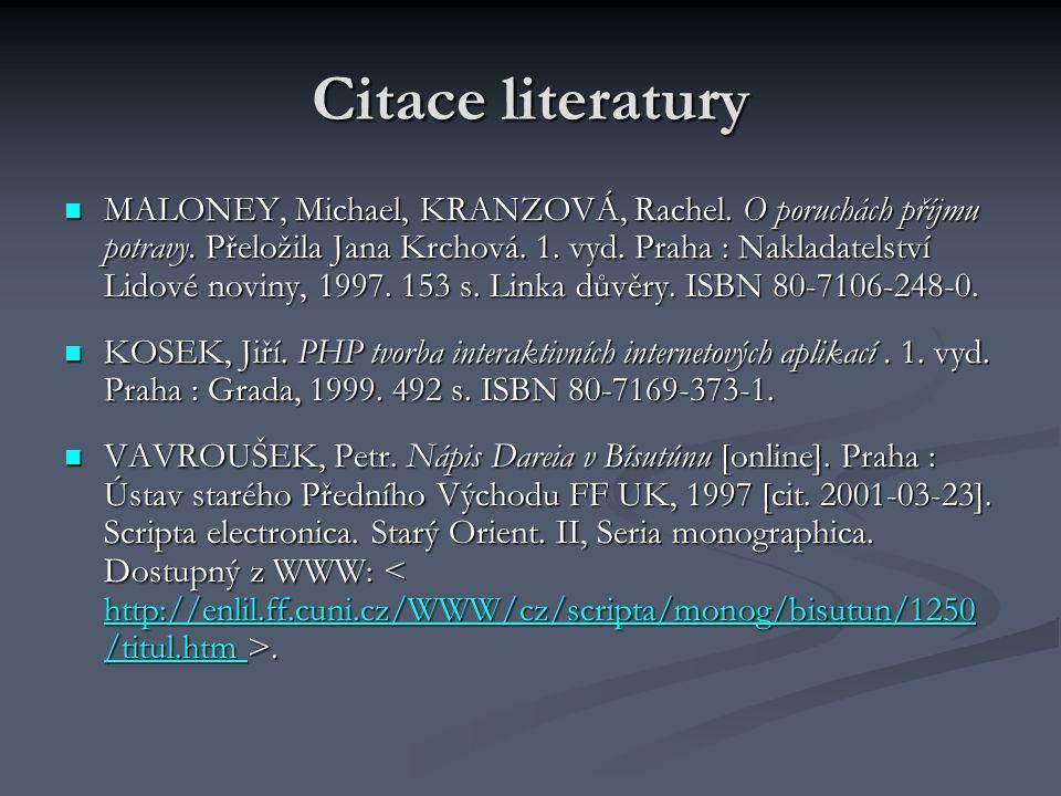 Citace literatury