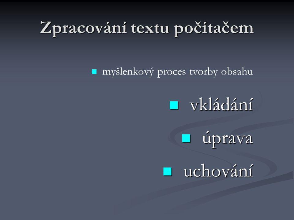 Zpracování textu počítačem