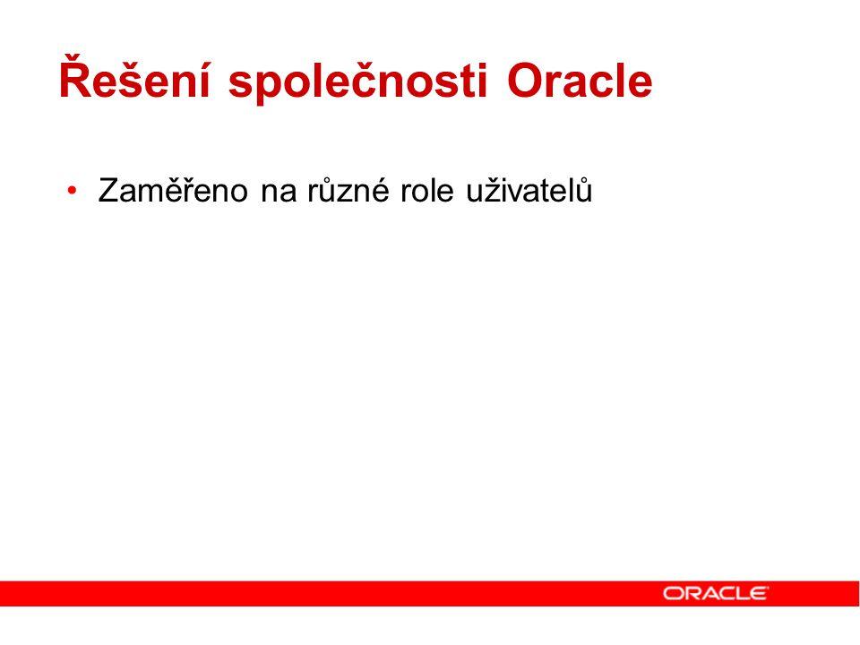Řešení společnosti Oracle