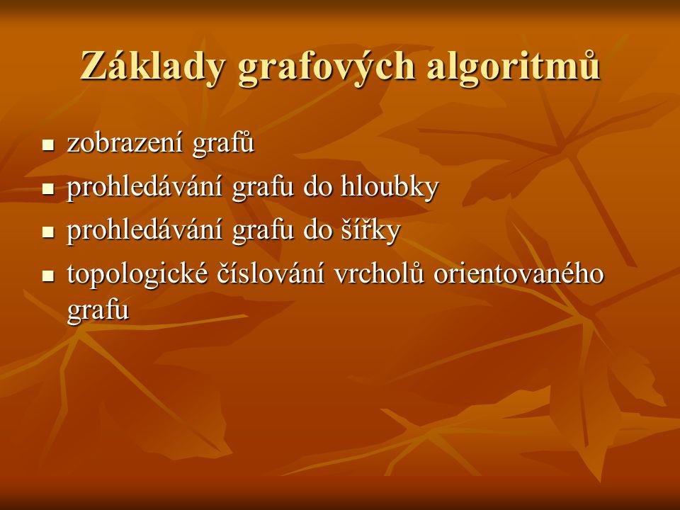 Základy grafových algoritmů