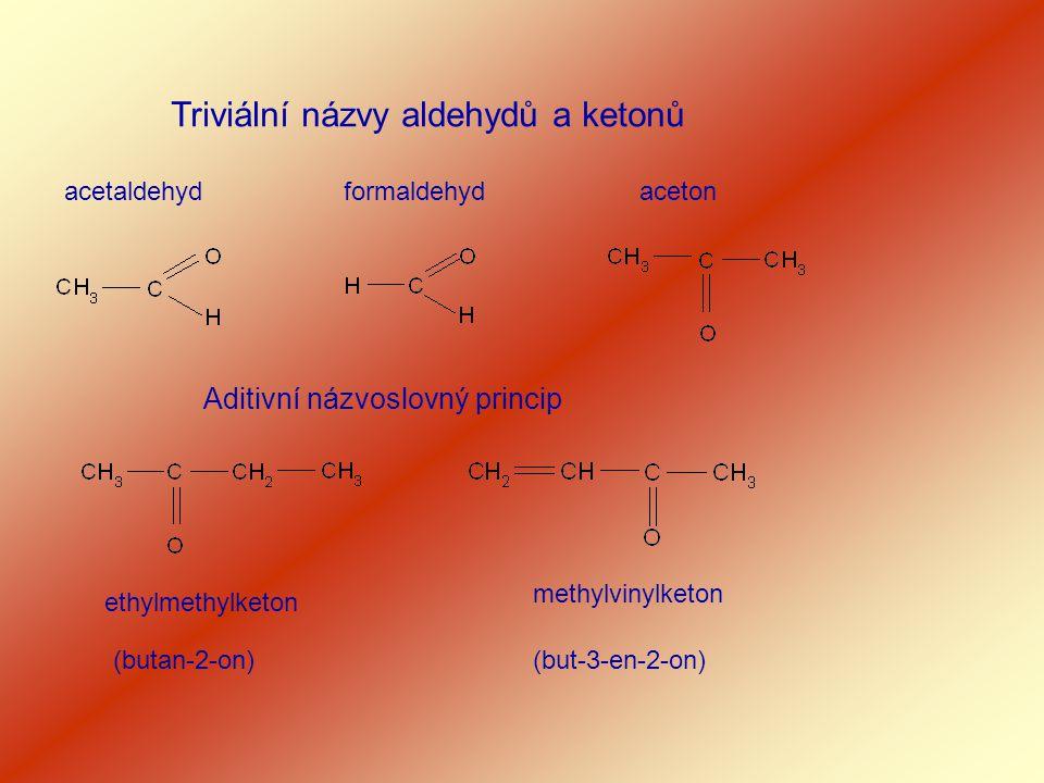 Triviální názvy aldehydů a ketonů