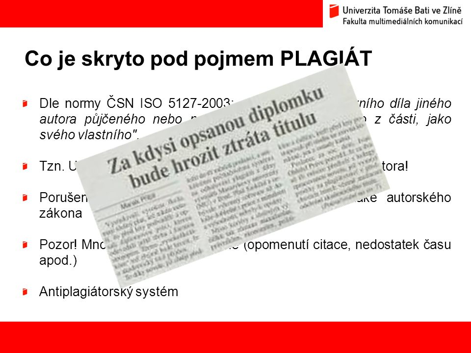 Co je skryto pod pojmem PLAGIÁT