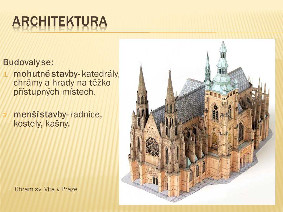architektura Budovaly se: