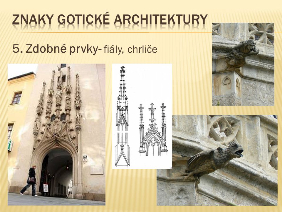 Znaky gotické architektury