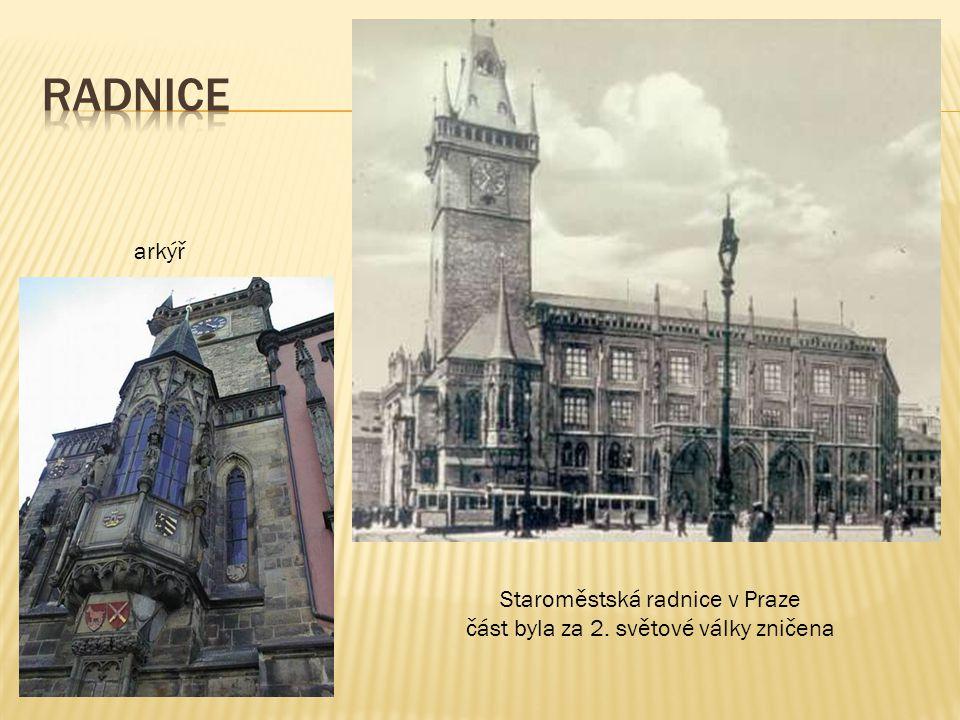 radnice arkýř Staroměstská radnice v Praze