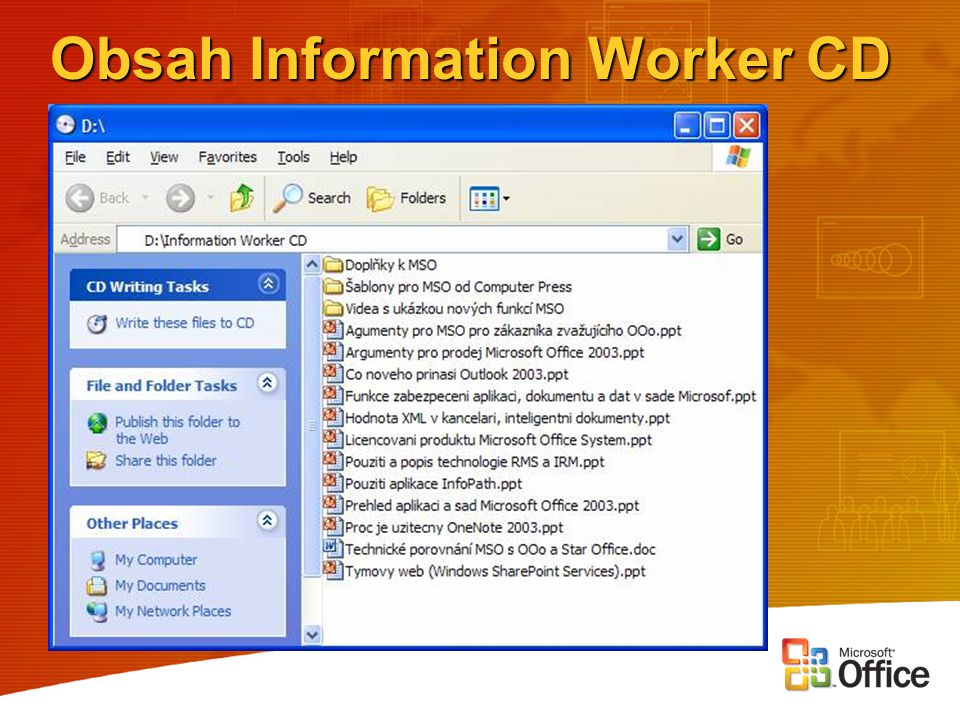 Obsah Information Worker CD