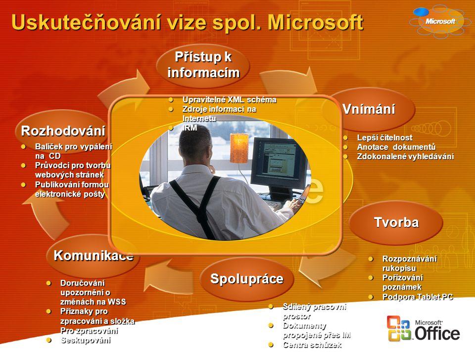 Uskutečňování vize spol. Microsoft