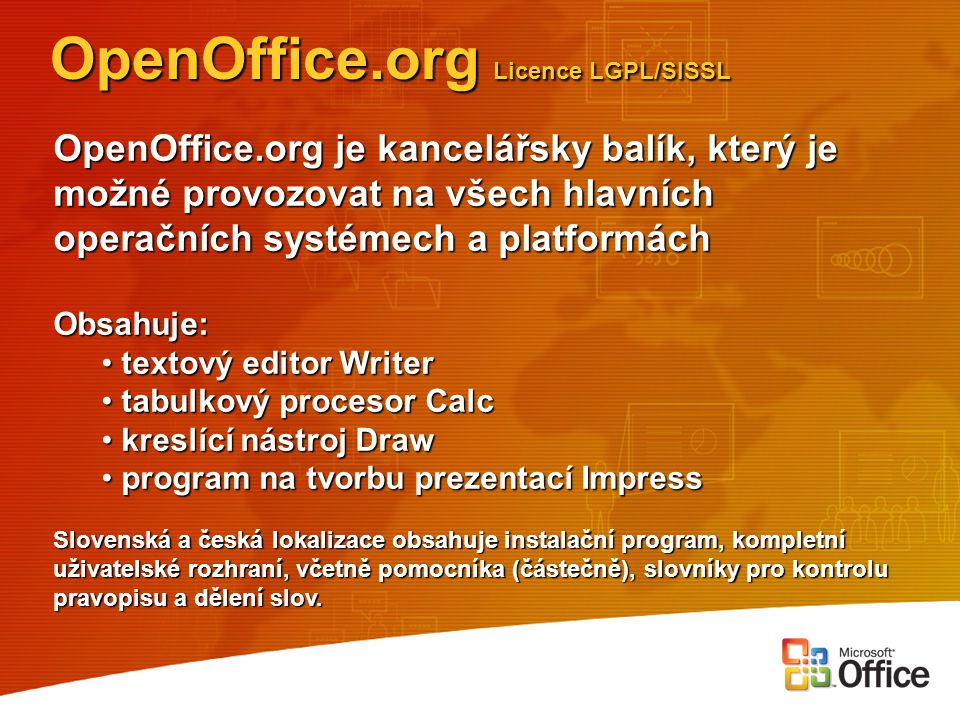 OpenOffice.org Licence LGPL/SISSL