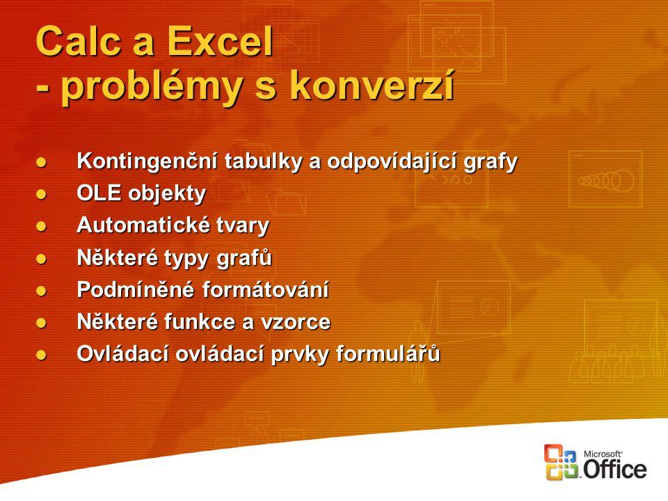 Calc a Excel - problémy s konverzí