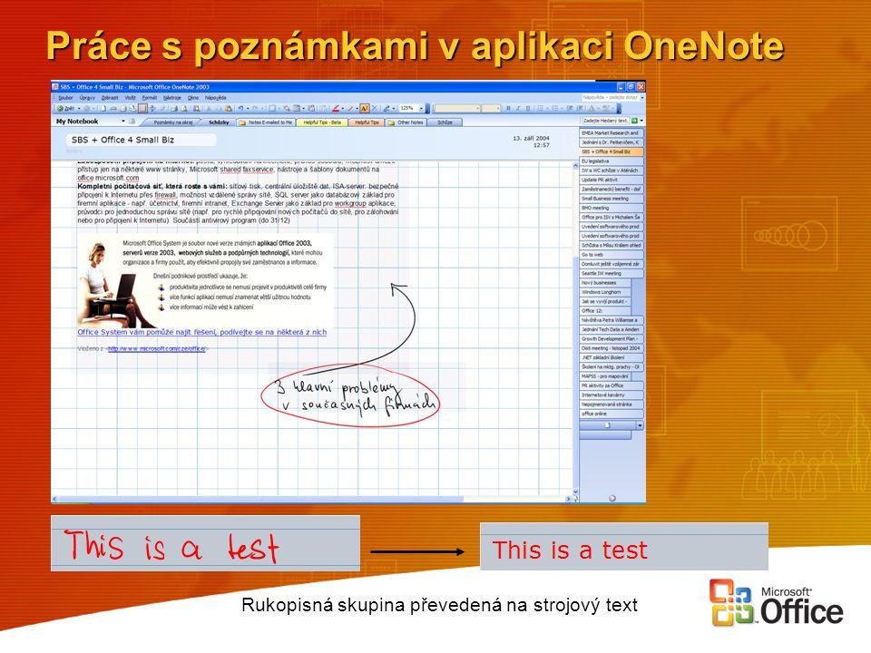 Práce s poznámkami v aplikaci OneNote