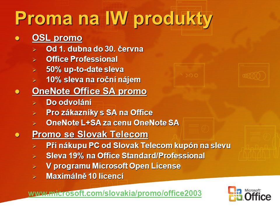 Proma na IW produkty OSL promo OneNote Office SA promo