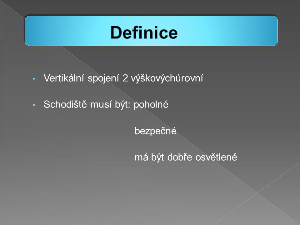 Definice Vertikální spojení 2 výškovýchúrovní