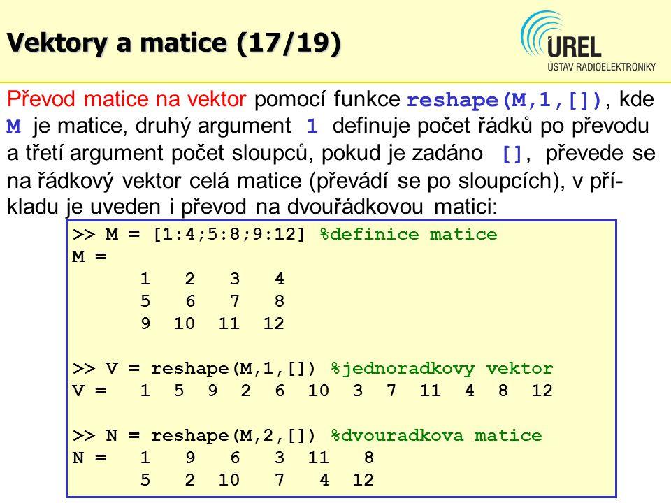 Vektory a matice (17/19)