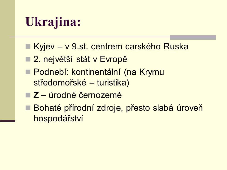 Ukrajina: Kyjev – v 9.st. centrem carského Ruska