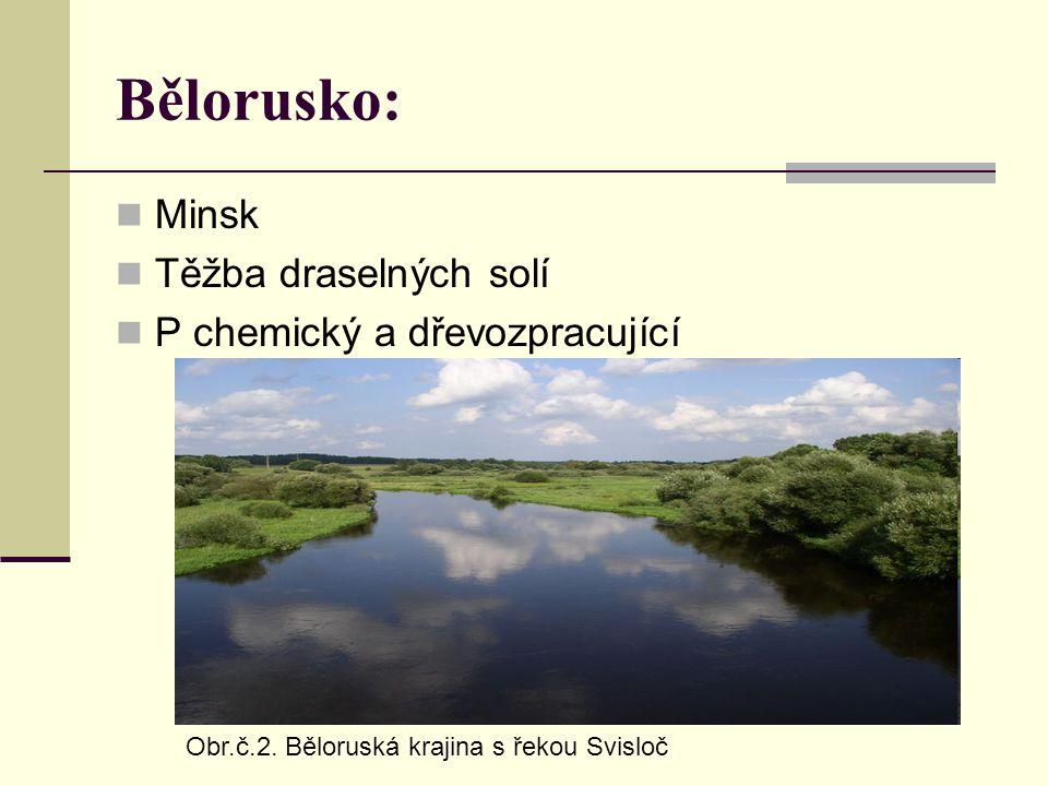 Bělorusko: Minsk Těžba draselných solí P chemický a dřevozpracující