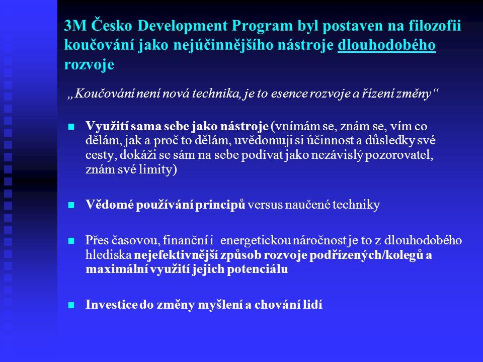 3M Česko Development Program byl postaven na filozofii koučování jako nejúčinnějšího nástroje dlouhodobého rozvoje