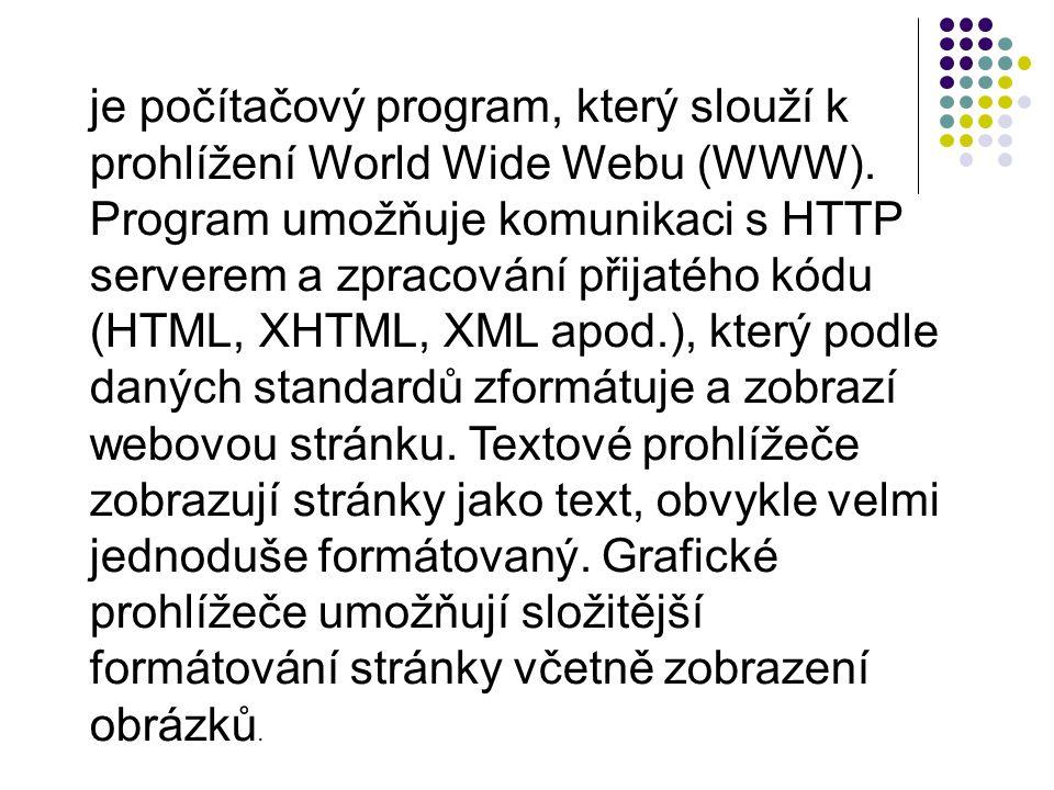 je počítačový program, který slouží k prohlížení World Wide Webu (WWW)