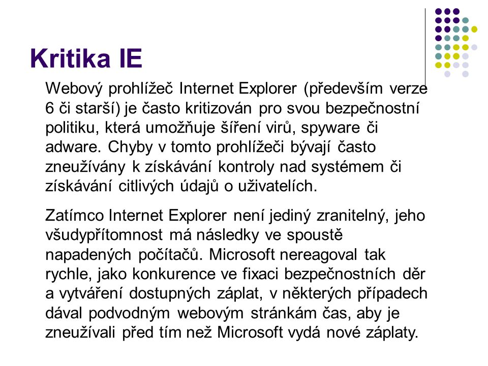 Kritika IE