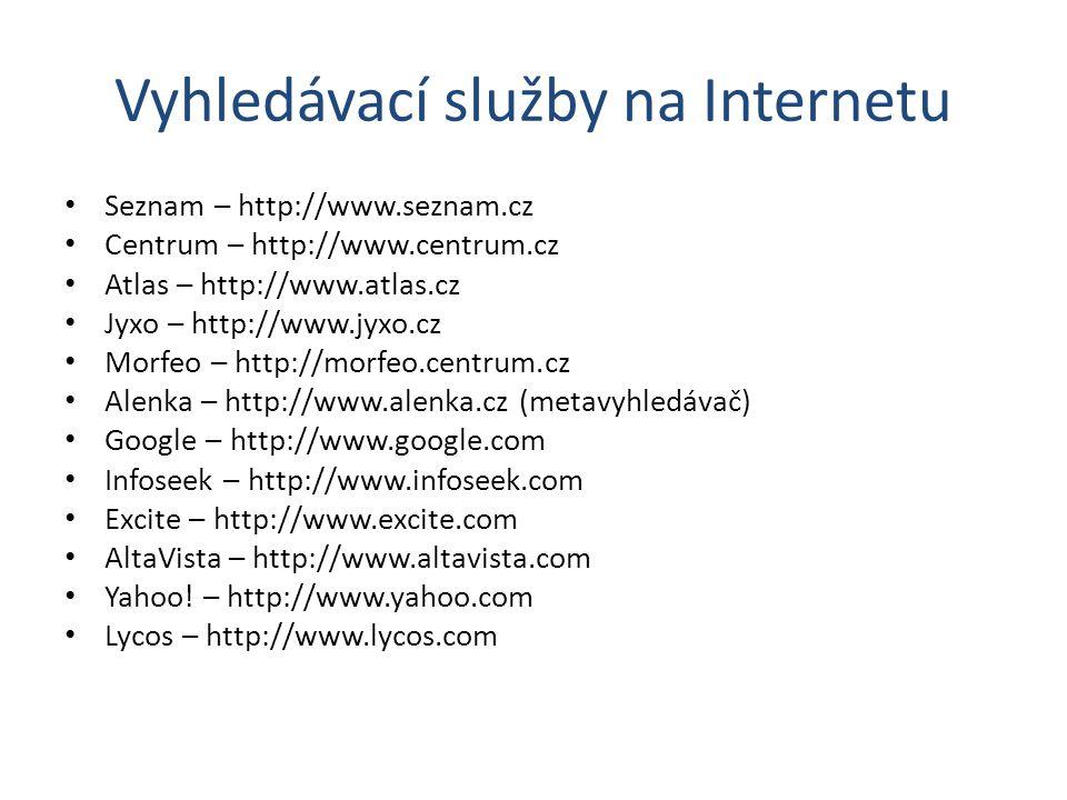 Vyhledávací služby na Internetu