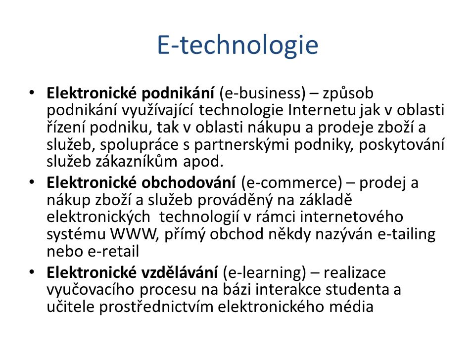 E-technologie