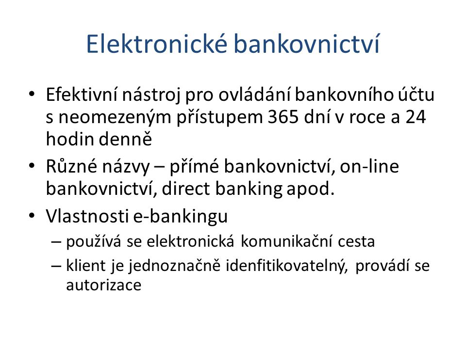 Elektronické bankovnictví