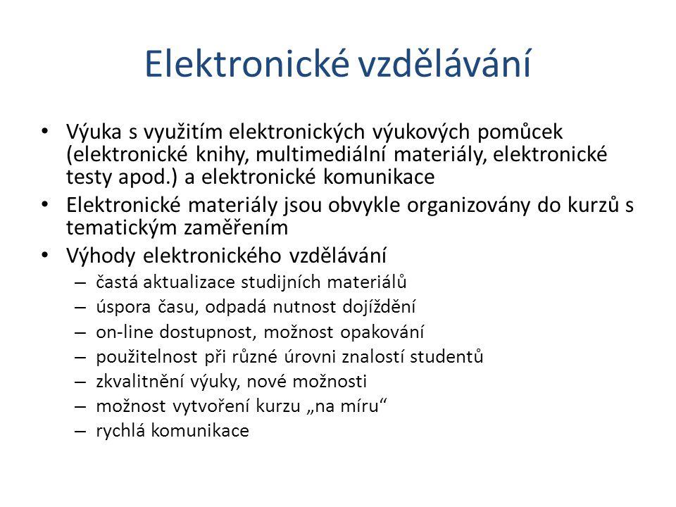 Elektronické vzdělávání