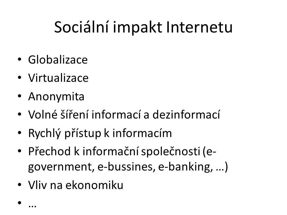 Sociální impakt Internetu