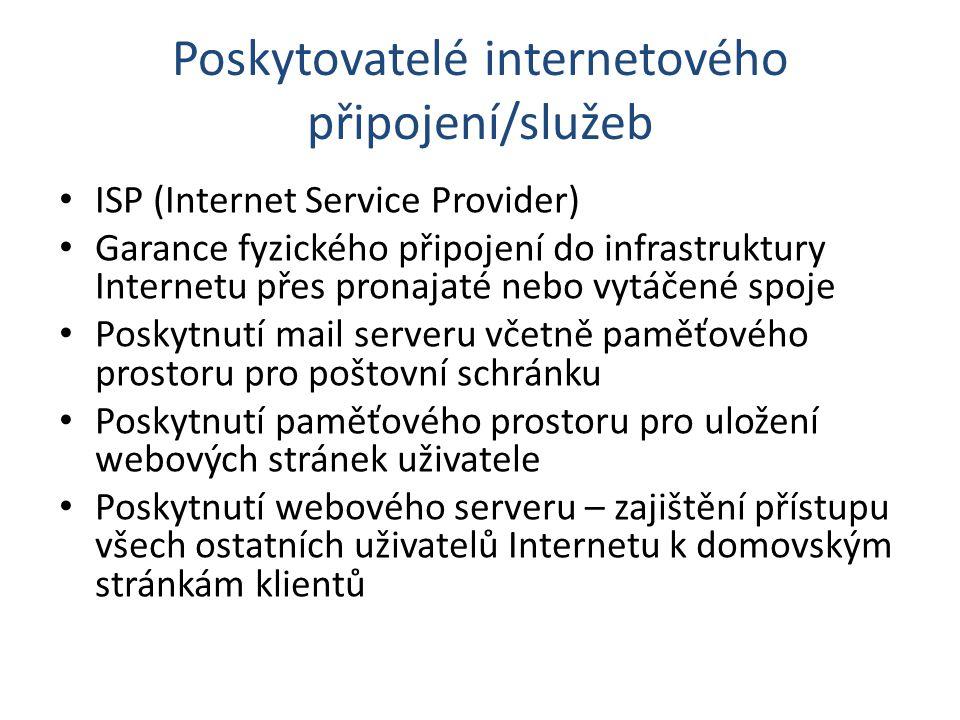 Poskytovatelé internetového připojení/služeb