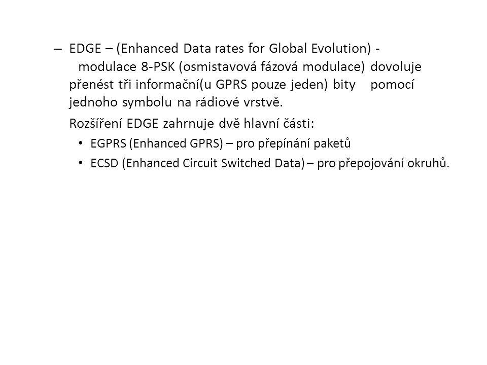 Rozšíření EDGE zahrnuje dvě hlavní části: