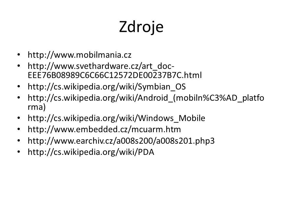 Zdroje http://www.mobilmania.cz