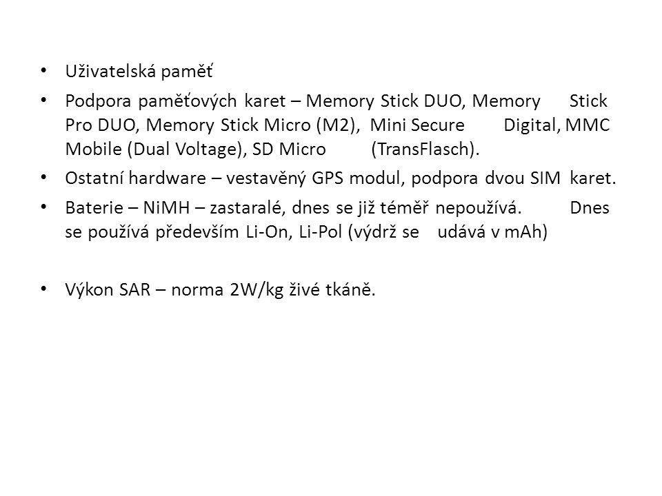 Uživatelská paměť