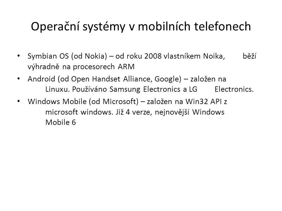 Operační systémy v mobilních telefonech