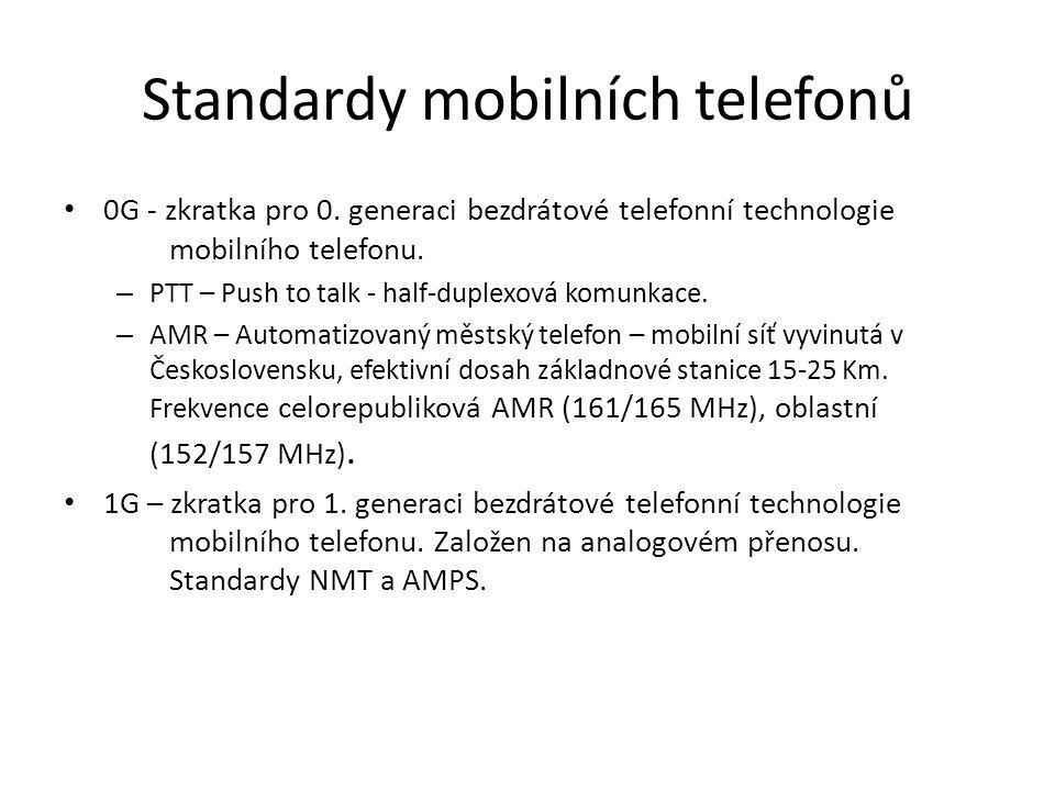 Standardy mobilních telefonů