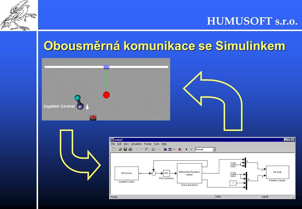Obousměrná komunikace se Simulinkem