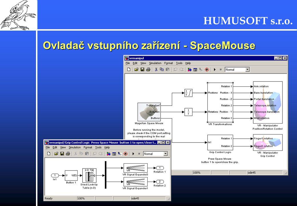 Ovladač vstupního zařízení - SpaceMouse