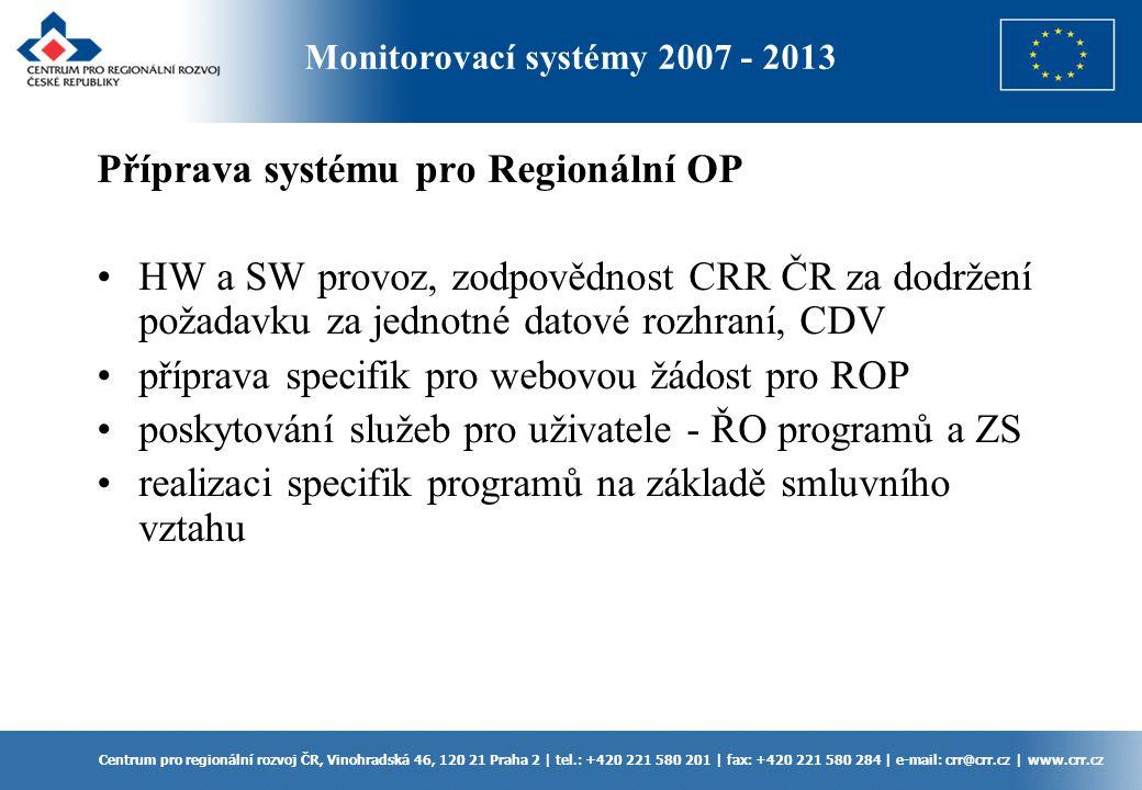 Příprava systému pro Regionální OP