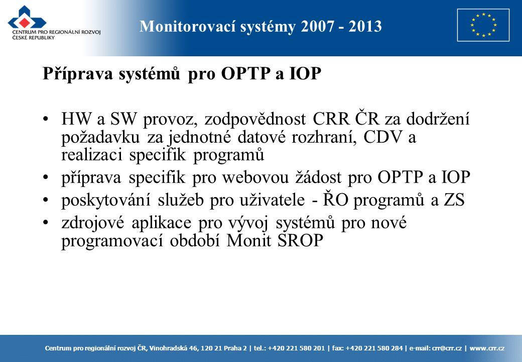 Příprava systémů pro OPTP a IOP
