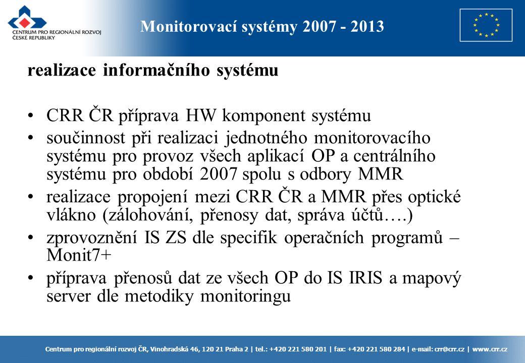 realizace informačního systému CRR ČR příprava HW komponent systému