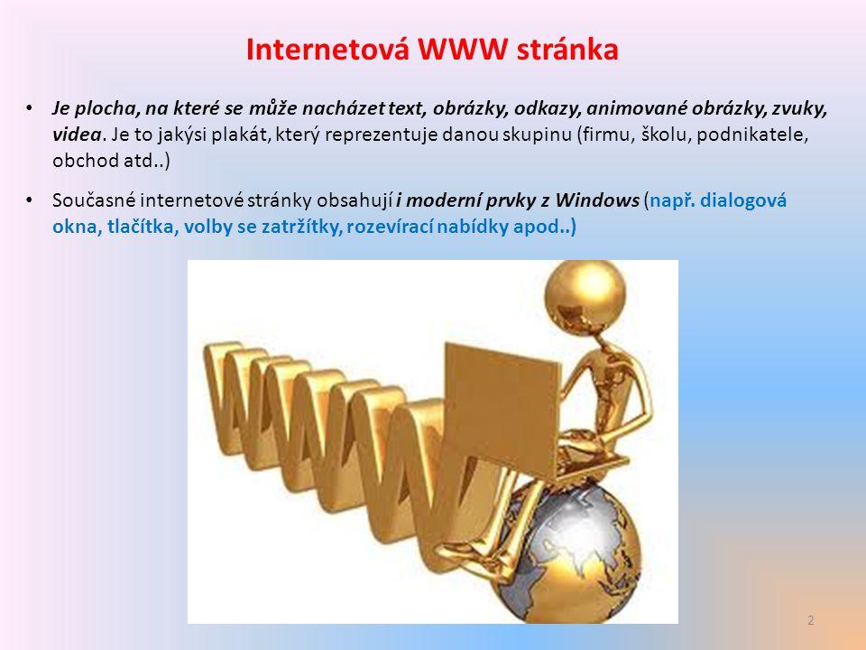 Internetová WWW stránka