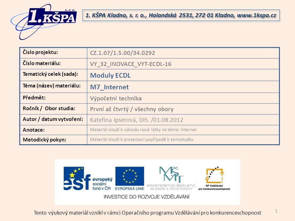 Moduly ECDL M7_Internet