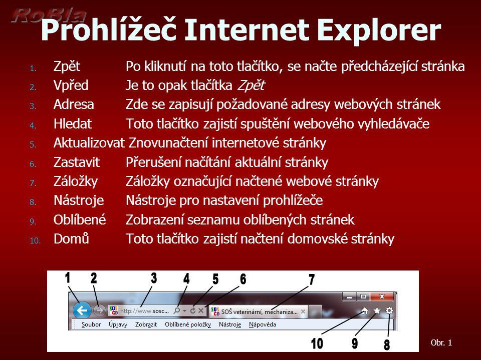 Prohlížeč Internet Explorer