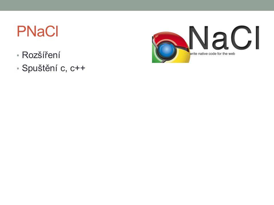 PNaCl Rozšíření Spuštění c, c++