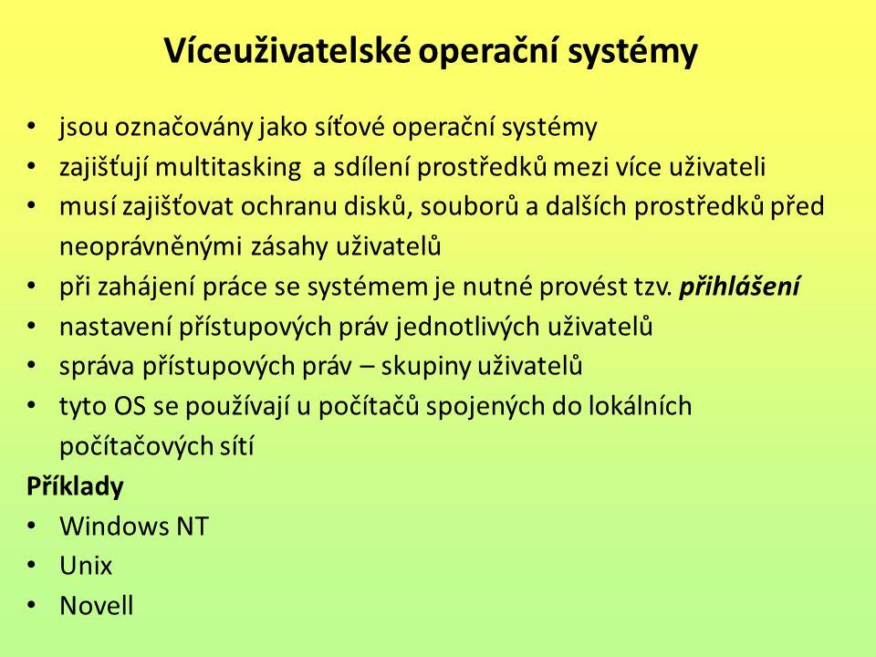Víceuživatelské operační systémy