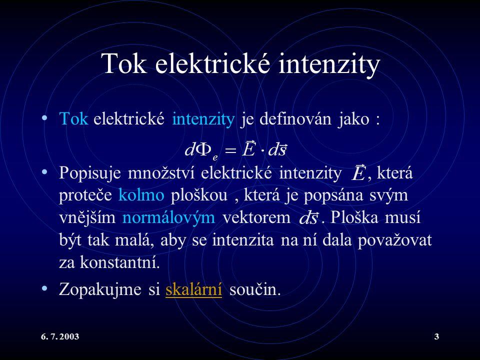 Tok elektrické intenzity