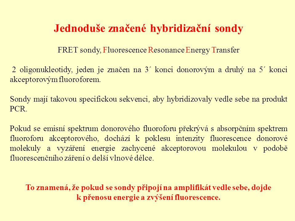 Jednoduše značené hybridizační sondy