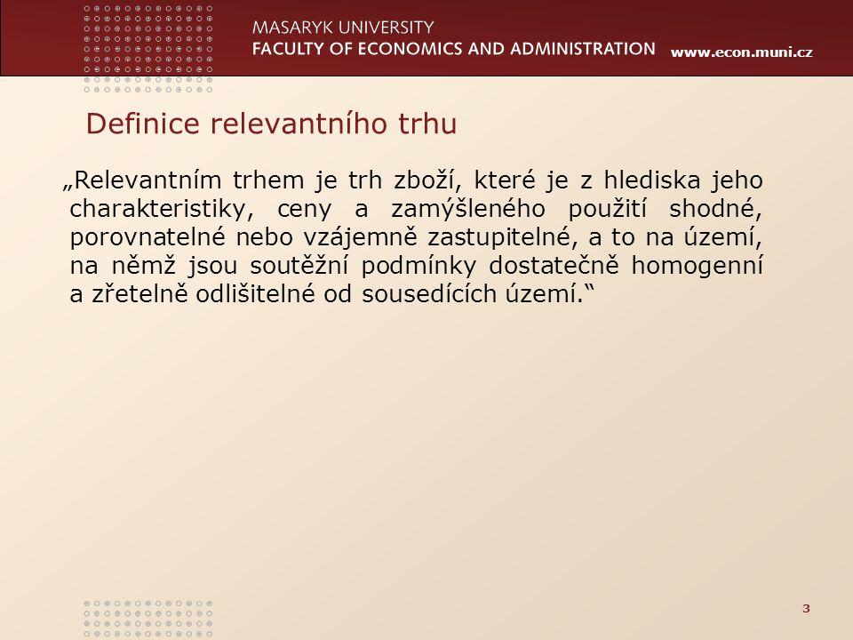 Definice relevantního trhu