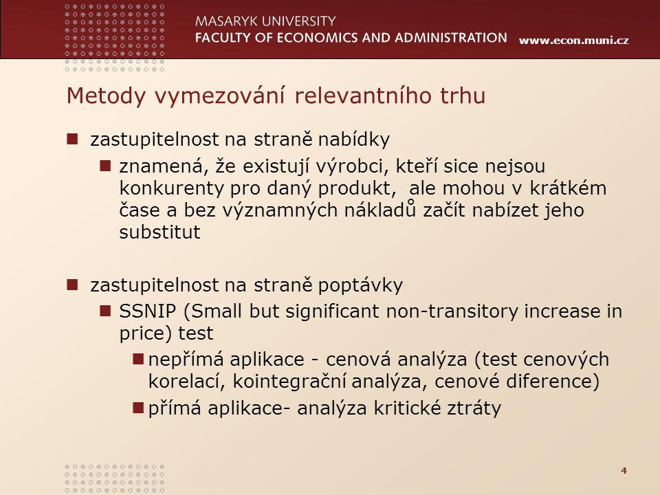 Metody vymezování relevantního trhu