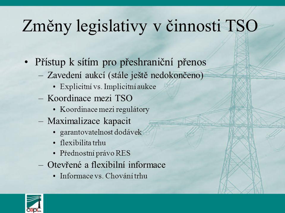 Změny legislativy v činnosti TSO