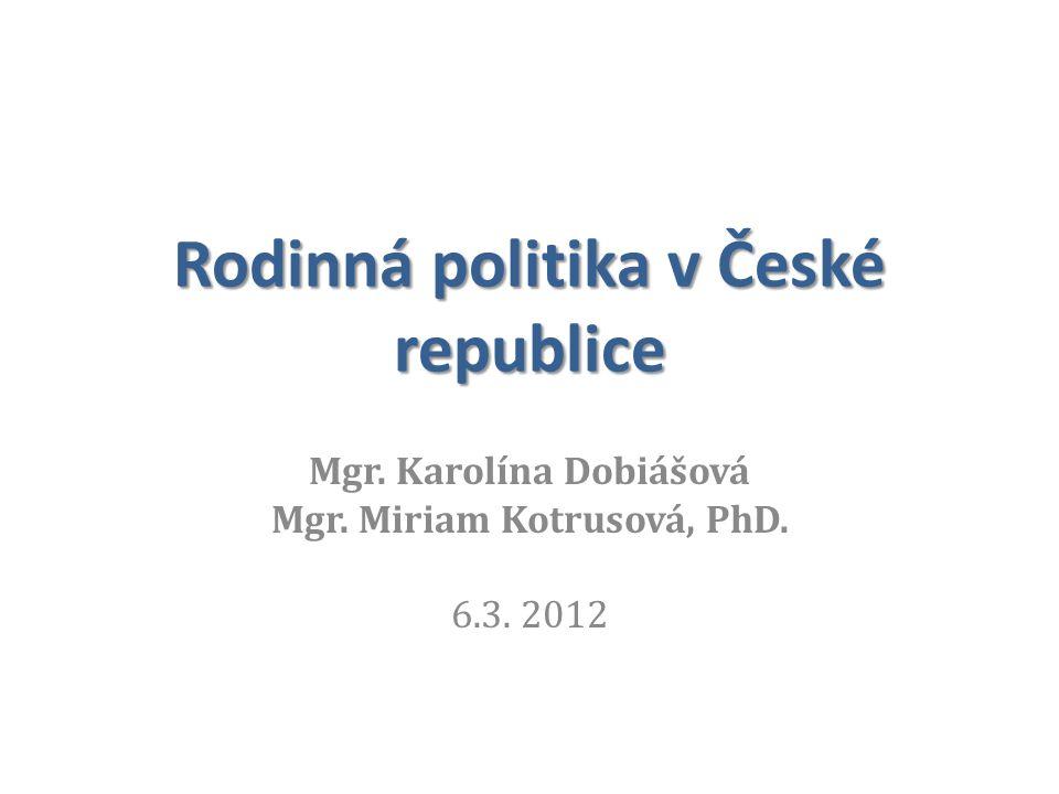 Rodinná politika v České republice